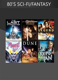 6 Movies (80's Sci-Fi/Fantasy Classics)