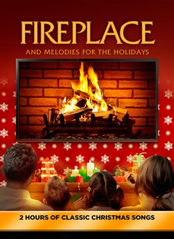 Fireplace and Melodies for the Holidays