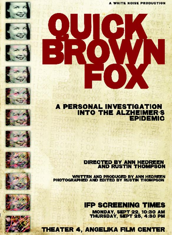 Quick Brown Fox: An Alzheimer's Story