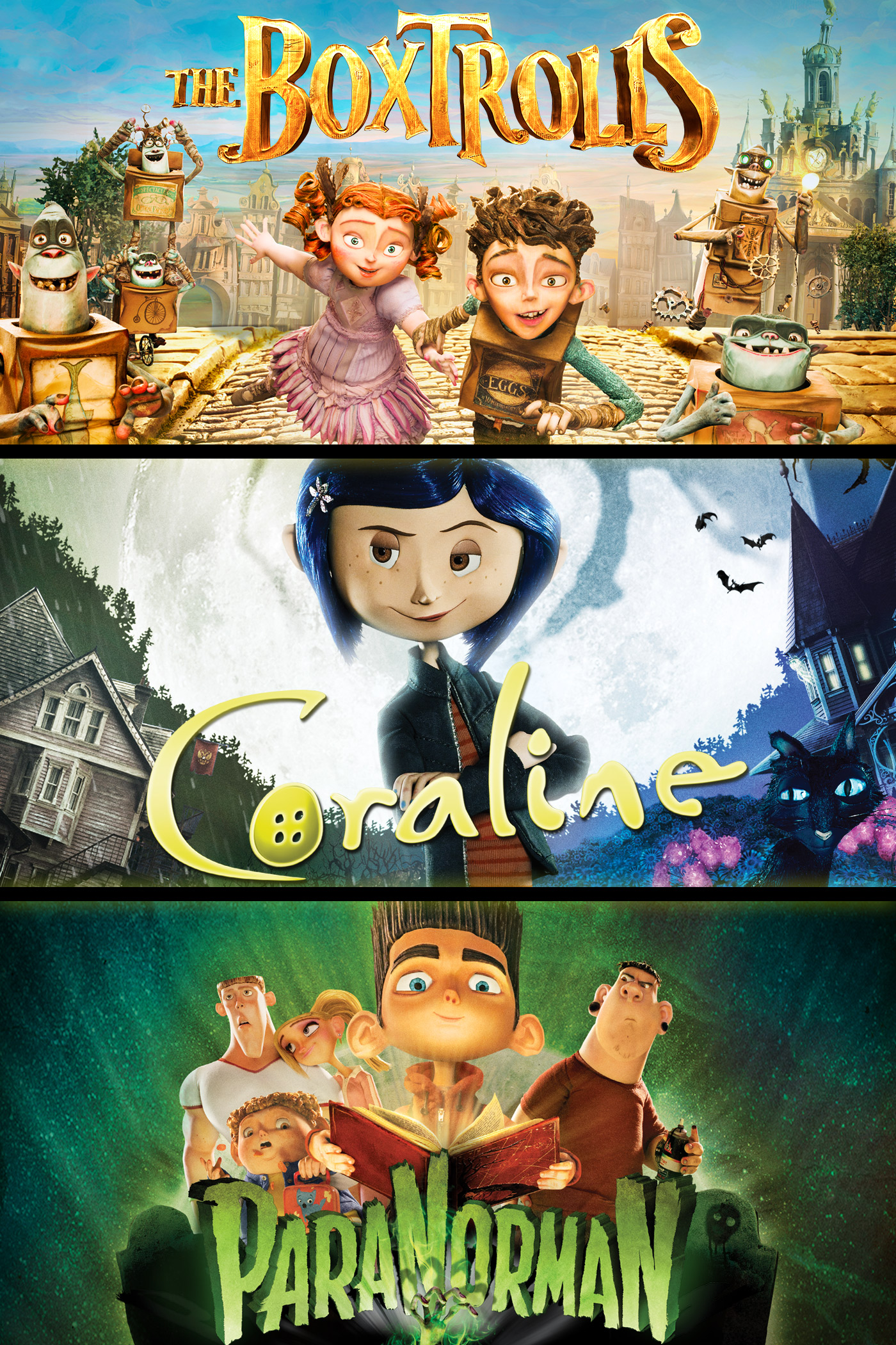 The Boxtrolls / ParaNorman / Coraline Triple Feature